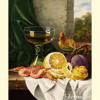 021 Still Life with Shrimp and Fruit