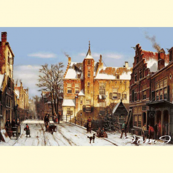 182 A Dutch Village In Winter