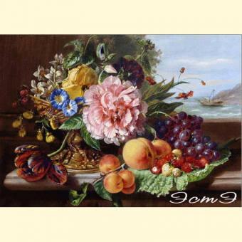 032 A Still Life with Flowers and Fruit