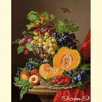 201 Still Life with Pumpkins and Grapes