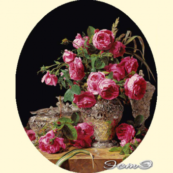 037 Roses (oval)