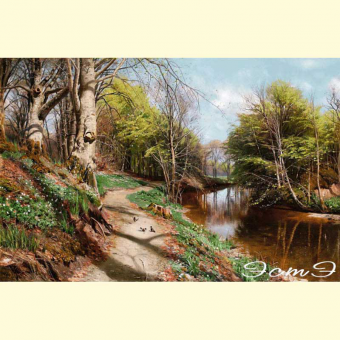 212  Spring Landscape with Water