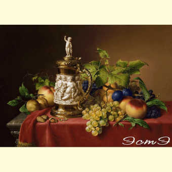 238 Dessert Fruit with Ivory Tankard