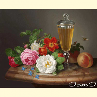 239 Roses and Glass Cup