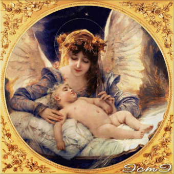 057 Guardian Angel (in a frame)