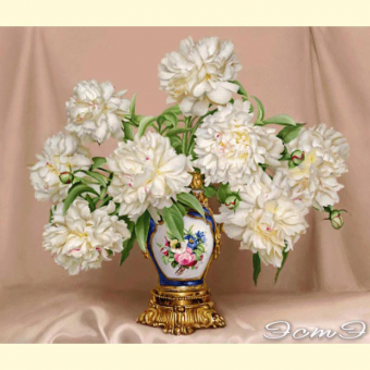 269 Peonies in Antique Vase (m)
