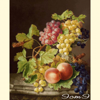 293 Vase with Grapes