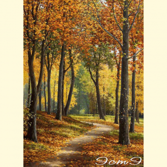 175* Path in the Autumn Park