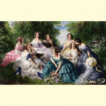 337 The Empress Eugenie Surrounded by her Ladies
