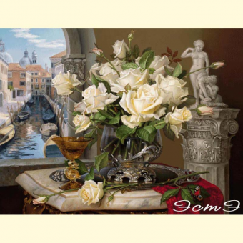 369 Memories of Venice. Roses. Sculpture