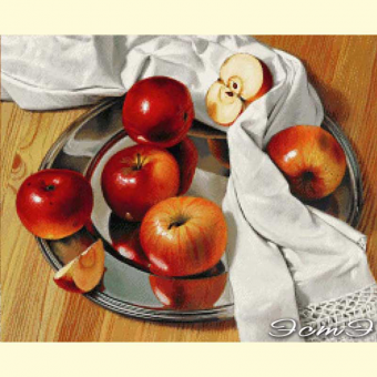 107 Apples on a silver dish